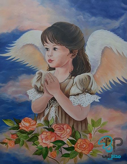 تابلو رنگ روغن فرشته
