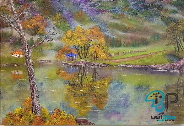 تابلو نقاشی رنگ روغن منظره