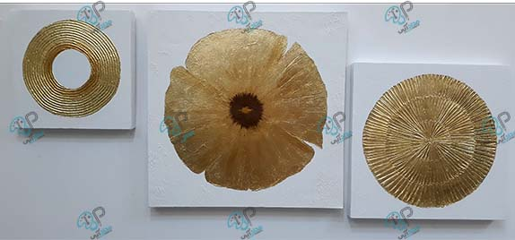 تابلو ورق طلا مدرن