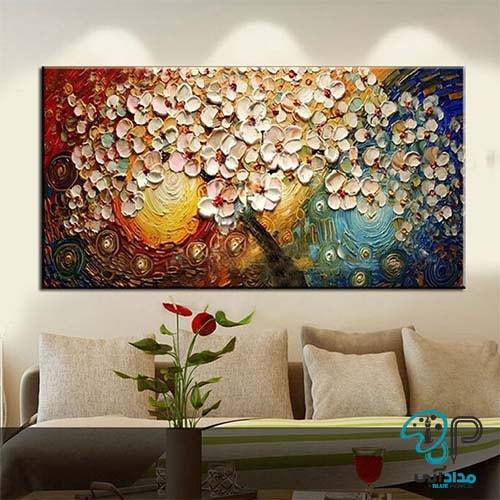 تابلو گل برجسته اکریلیک