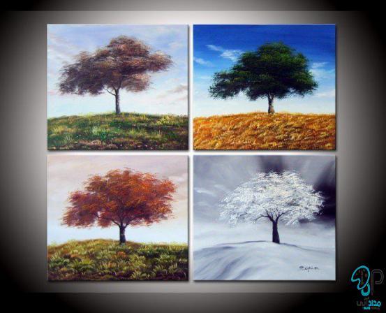 تابلو رنگ روغن چهار فصل