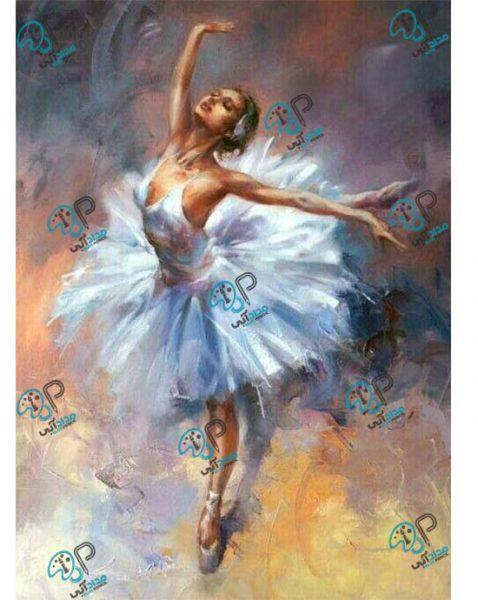 تابلو رنگ روغن رقص باله
