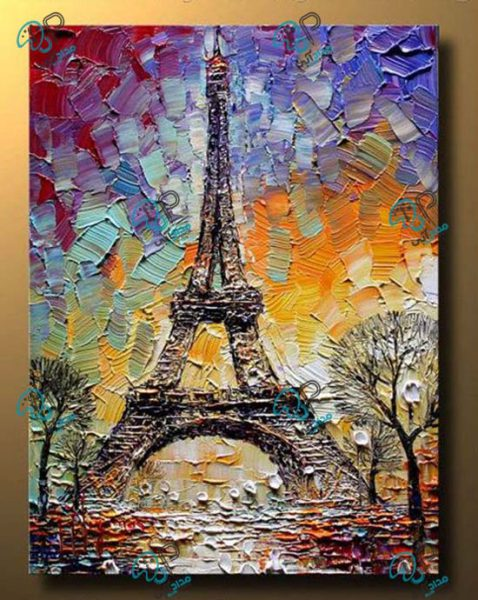تابلو رنگ روغن پاریس