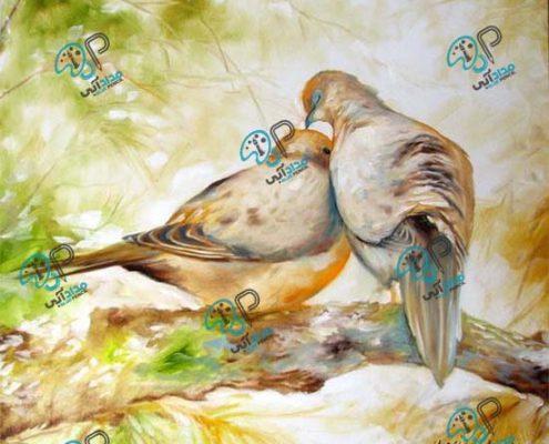 تابلو نقاشی پرندگان