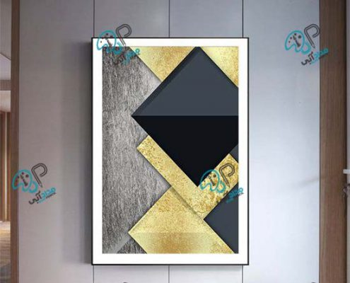 تابلو اکرلیک ورق طلا