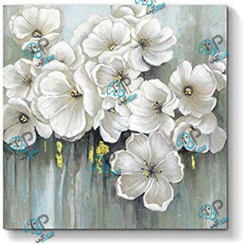 تابلو رنگ روغن مدرن گل