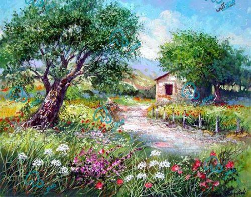 تابلو نقاشی رنگ روغن طبیعت