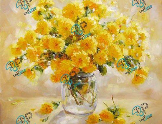 تابلو نقاشی گل