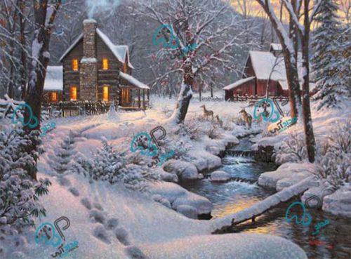 تابلو رنگ روغن زمستان