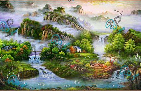 تابلو نقاشی طبیعت