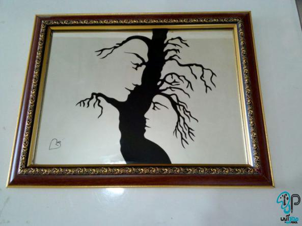 تابلو نقاشی آینه