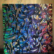 تابلو نقاشی خط مدرن