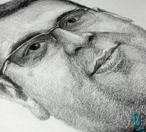 تابلو نقاشی سیاه قلم