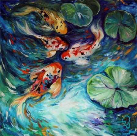 تابلو نقاشی رنگ روغن اکریلیک