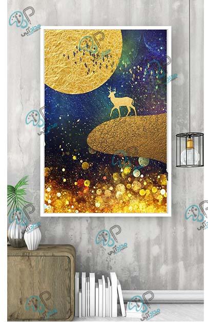 تابلو نقاشی مدرن ورق طلا
