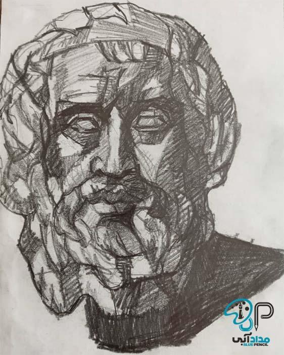 تابلو طراحی سیاه قلم