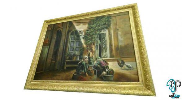 تابلو نقاشی روی جیر