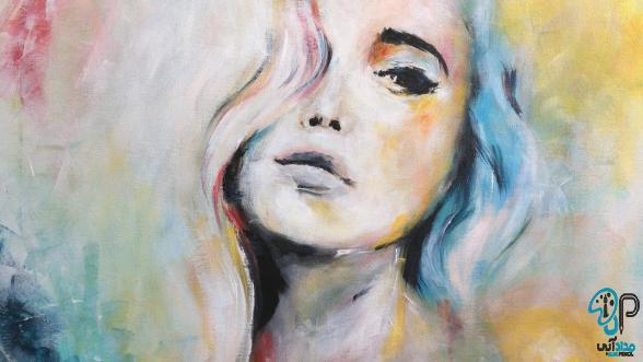 تابلو نقاشی چهره زن