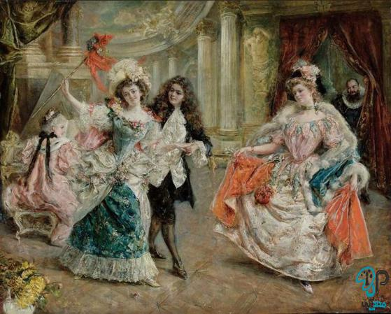 تابلو نقاشی فرانسوی