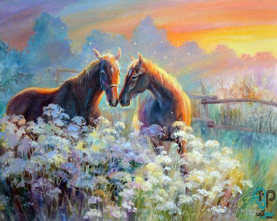تابلو اکریلیک اسب