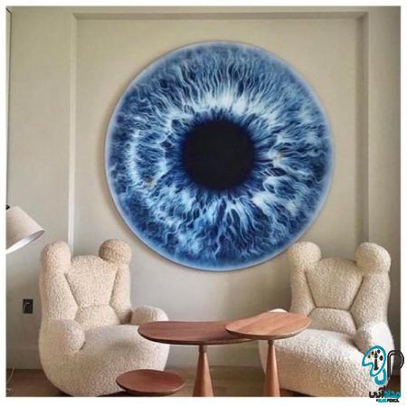 تابلو رنگ روغن چشم نظر