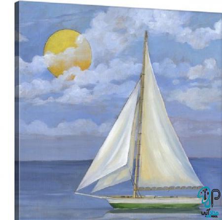 تابلو نقاشی قایق