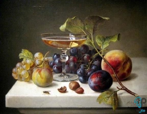 تابلو نقاشی ظرف میوه