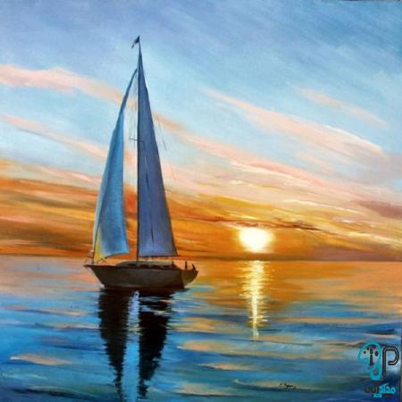 تابلو نقاشی کشتی